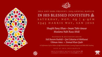 Thumbnail for 2019 Annual Mawlid: In His Blessed Footsteps ﷺ